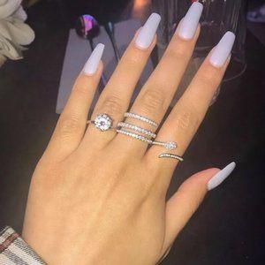 NEW 925 STERLING SILVER DIAMOND RING